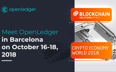 Meet OpenLedger in Barcelona on October 16-18, 2018