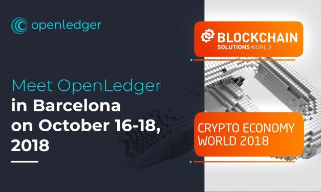 Meet OpenLedger in Barcelona on October 16-18, 2018