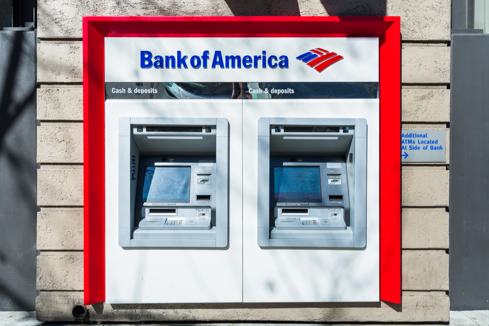 money network bank of america atm