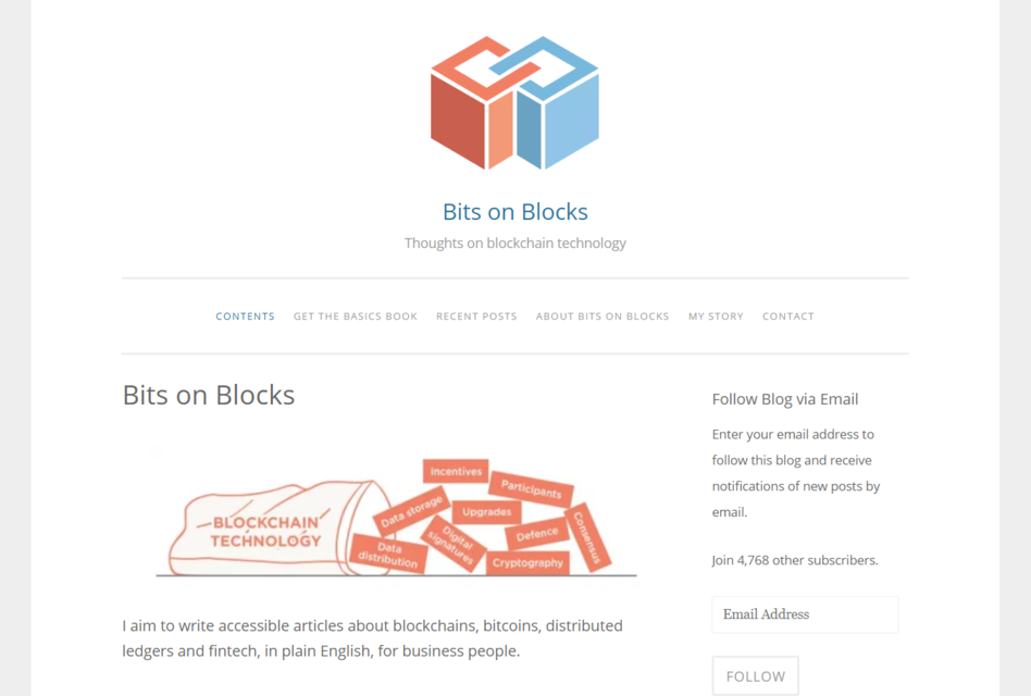 Bits on Blocks - best blockchain blogs